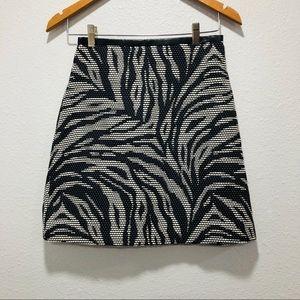 Zebra print H&M skirt